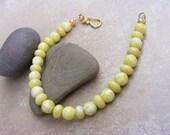 Snow Lemon Jade Bracelet.