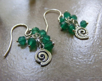 Green Onyx Spring and Summertime Earrings.