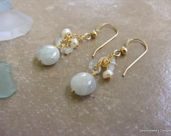 Aquamarine Earrings.
