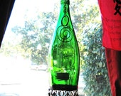 Recycled Perrier Bottle Lantern/Candle Holder