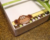 Personalized Stationery - Monkey Polka Flat Thank You Notes