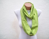 infinity scarf Loop scarf Neckwarmer Necklace scarf Fabric scarf  Green