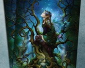 postcard - Fairy Queen of Deadly Nightshade Art Card by John Emanuel Shannon