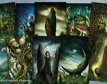 post card set 10 Fantasy Art Cards by John Emanuel Shannon