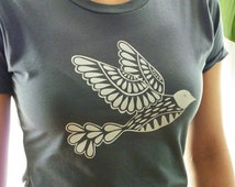 SALE - White Dove on Gray T-Shirt