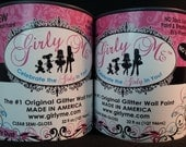 Gilry Me Glitter Wall Paint in  BLING  - 2 cans of  Glitter Paint for Walls, Baby Room, Childrens Room, Boys and Girls