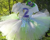 Tinkerbell Tutu Outfit....perfect for Tinkerbell birthday parties...tinkerbell costumes...and more