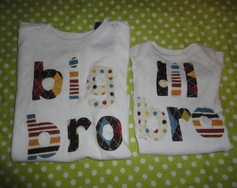 Big bro lil bro shirts...perfect for new baby