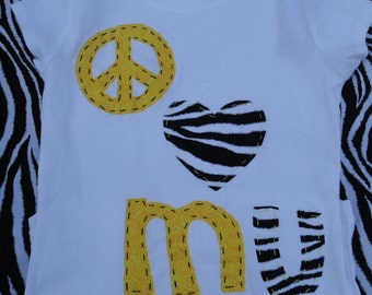 Peace love MU....MU and Mizzou Tigers shirts