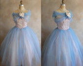 Vintage 1950s Prom Dress - Bridesmaid Dress -  50s Evening Wear - Extra Small - RESERVED for Chritine