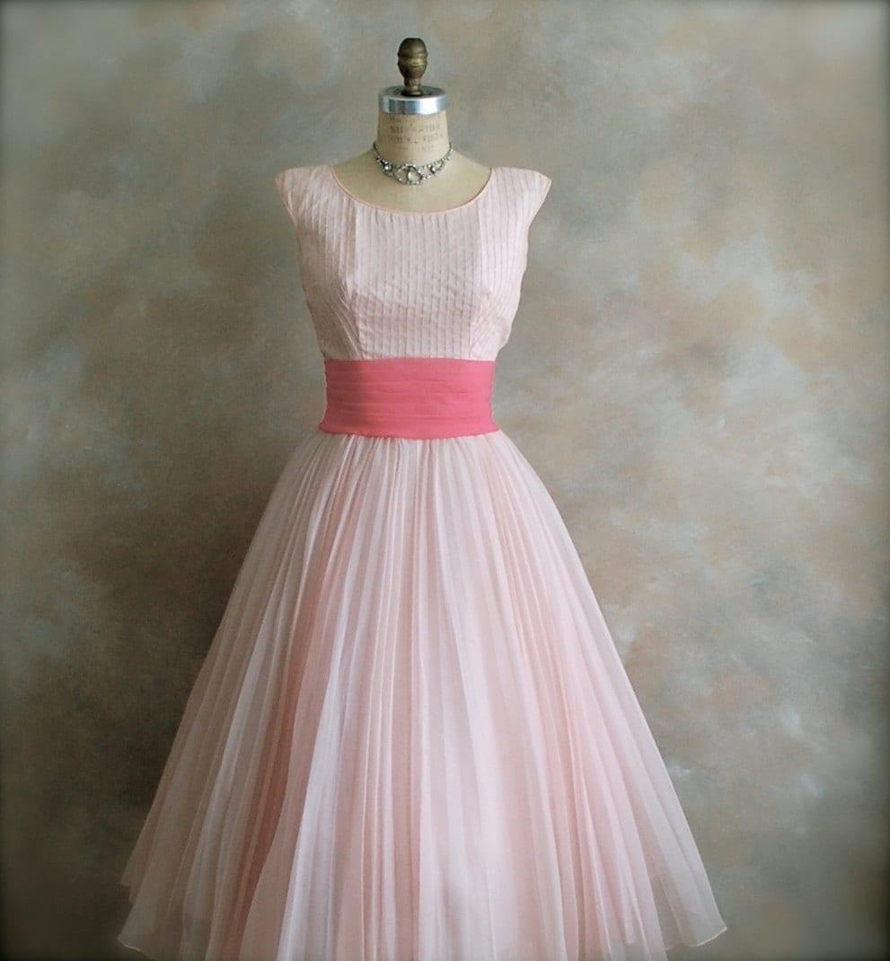 Vintage 1950s Prom Dress Party Dress Bridal Dress