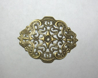 Antiqued Brass, Vintage Style, Filigree Finding, Jewelry Making, Finding Supply, Craft Supply, Jewelry Design, Embellishment Finding   (2)