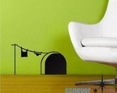 Cute mouse home----Removable Graphic Art wall decals stickers home decor