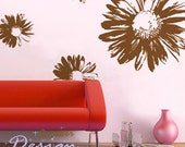 5pcs Big Elegant Flowers----Removable Graphic Art wall decals stickers home decor