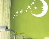 SALE  Moon Stars Kids Nursery----art Graphic Vinyl wall decals stickers home decor