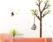My Love Tree Birds 60inch H----Removable Graphic Art wall decals stickers home decor