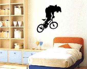 Extreme bike sports game----Art Home Decor Murals Vinyl Decals Wall Stickers