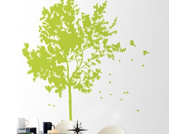 Big Tree Birds 64by66inch----Removable Graphic Art wall decals stickers home decor