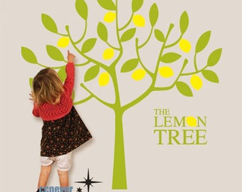 Lemon Tree  Kids Nursery Vinyl Art Mural decals Wall Stickers