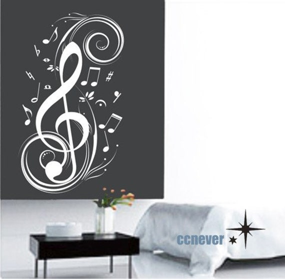 Items Similar To Music Note Flying 40inch Removable