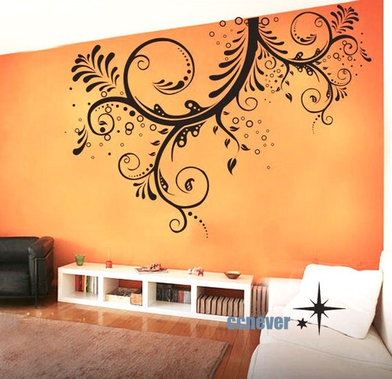LARGE 66x44 inches Flower Blooming----art Graphic Vinyl wall decals stickers home decor
