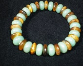Aventurine  with  Tiger  Eye  Heishi  Bracelet--medium size
