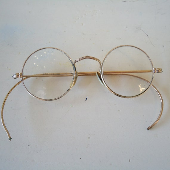 1920s vintage 14K gold round spectacles by JennyandPearl ...
