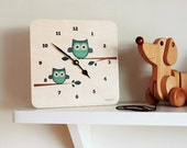 LulaOwl wall clock by Lulabird