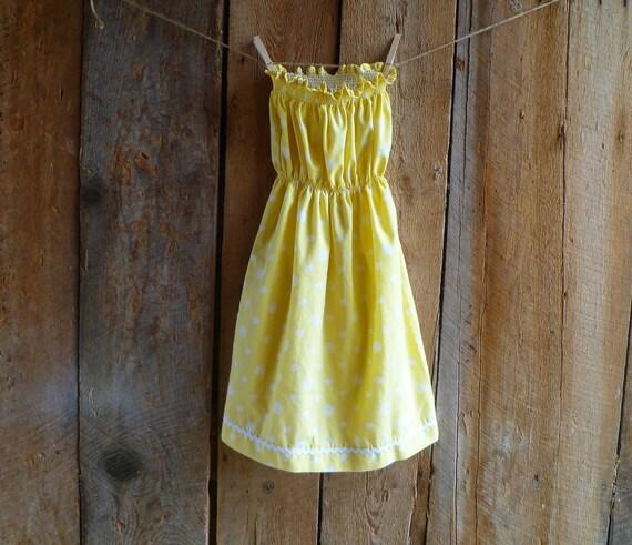 eco chic yellow polka dot strapless dress