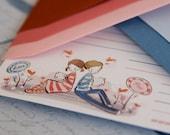 Love Post - A5 Letter Set - 10 sheets 5 envies