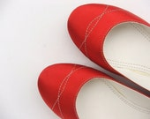 shoes red shoes women shoes  EcoFriendly  Vegan  shoes wedding shoes flat shoes  handmade shoes