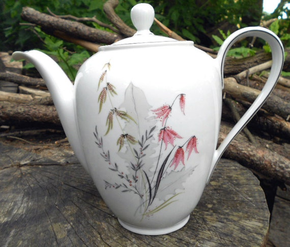 Mountain Bell China Coffee Pot Server, or teapot, by Royal Duchess, Bavaria Germany