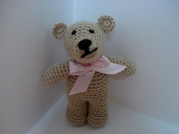 SALE Small Crocheted Brown Bear for Kids/Children