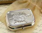 Turtle Pill Box Case -  Gift Present