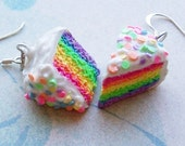 Polymer Clay Rainbow Cake Earrings - Buy 2 Get 1 Free
