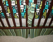 Custom Crib Bedding You Design-Bumper and Bedskirt-Groovy Gutiar