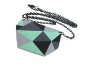Geometric Triangle Necklace Mint