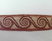 Non-Slip Thick Bronze and Gold Mosaic Wave Headband
