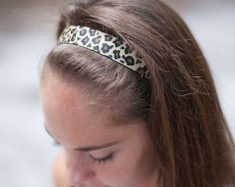 Non-Slip Brown and Black Leopard Headband