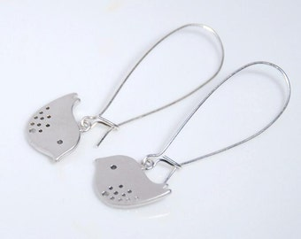 Silver lovely birds Argentinum silver earrings