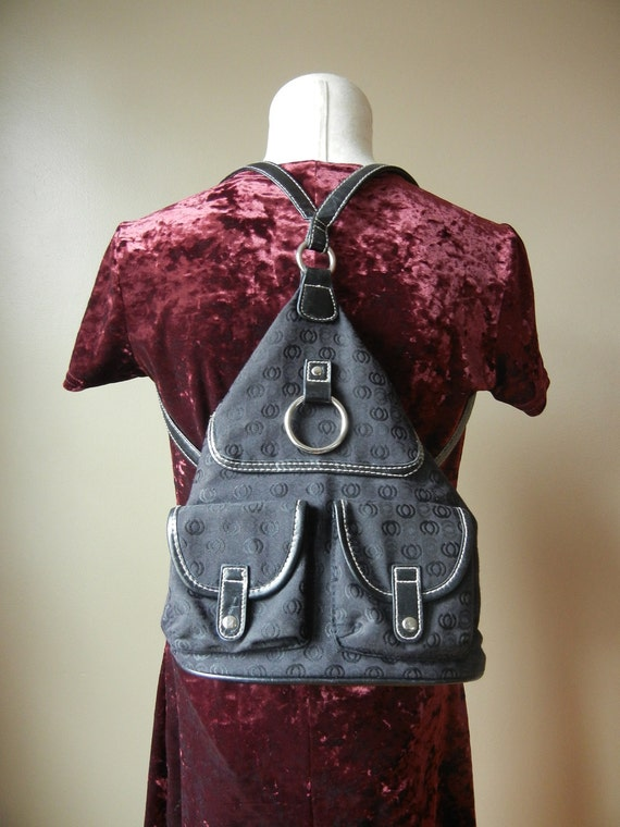 Adorable Black Mini Backpack with adjustable straps