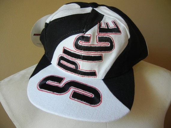 Vintage 90's Spice Girls Hat, Deadstock, Black and White, Pop Music, Old School, Awesome, Rad