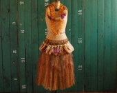 Tahitian Grass Skirt Hula Halloween Costume, Authentic -- RESERVED