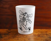 Melmac Cup, Bullwinkle and Cheerios Kids Cartoon Characters Juice Cup