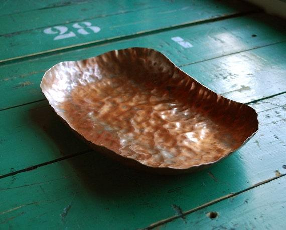 Hammered Copper Dish By Bingobox On Etsy
