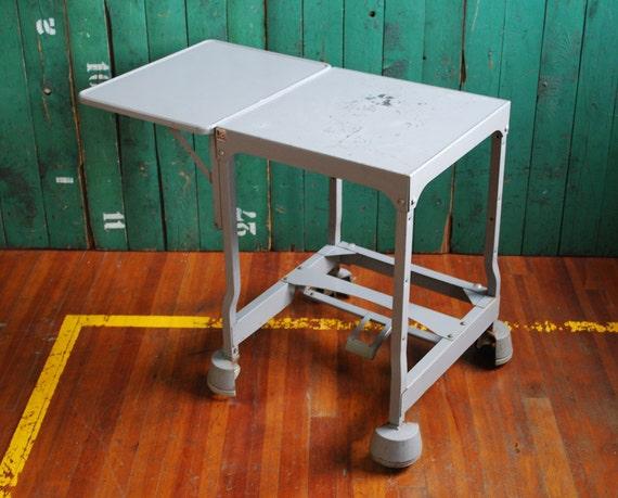 Rolling Typewriter Cart, Tiffany Stand, Midcentury Modern Office Furniture
