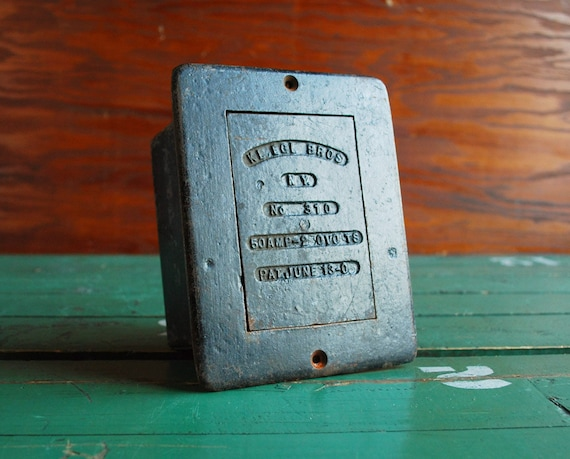 RESERVED -- Antique Electrical Salvage, Cast Iron Kliegl Box, Early 20th Century