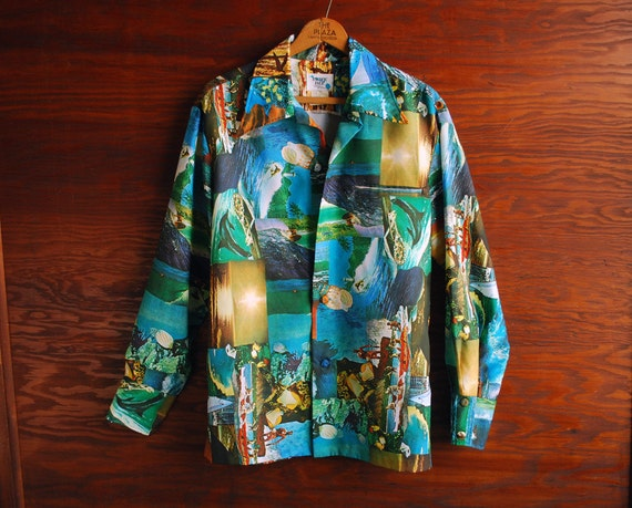 Vintage Hawaiian Shirt, Pacific Isle Creation, Super 70's Style, Free Shipping