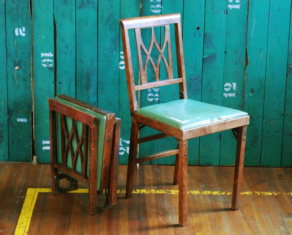 Pair Of Leg O Matic Folding Chairs By Bingobox On Etsy