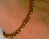 Gold Square Beaded Bracelet